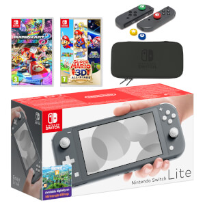 Nintendo Switch Lite (Grey) Mario Mega Pack