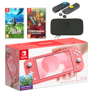 Nintendo Switch Lite (Coral) The Legend of Zelda Double Pack