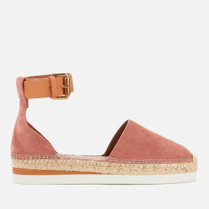 See By Chloé Women's Glyn Leather Espadrilles - Pink