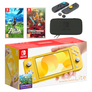 Nintendo Switch Lite (Yellow) The Legend of Zelda Double Pack