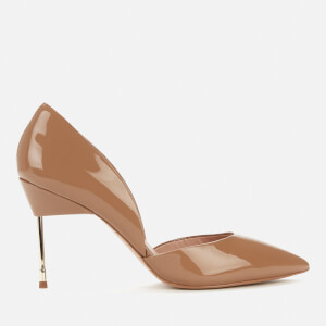 Kurt Geiger London Women's Bond 90 Patent Leather Court Shoes - Nude