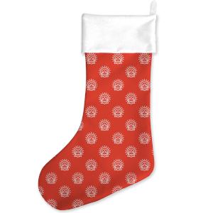 Jesus Print Pattern Christmas Stocking