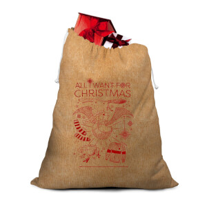 Harry Potter Hessian Santa Sack
