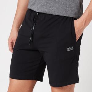 BOSS Loungewear Men's Mix&Match Shorts with Contrast Waistband - Black