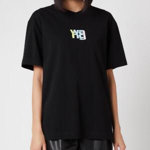 Alexander Wang Women's Short Sleeve T-Shirt with Ombre Puff Print - Black