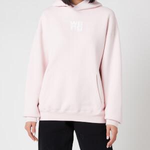 Alexander Wang Women's Garment Washed Hoodie with Wang Puff Print - Primrose Pink