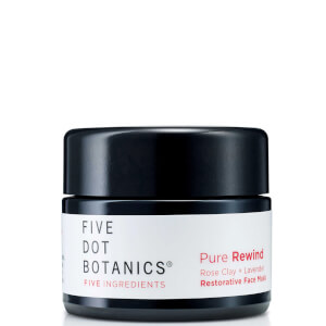 Five Dot Botanics Pure Rewind Rose Clay and Lavender Restorative Face Mask 30ml
