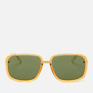 Gucci Men's Metal Frame Sunglasses - Shiny Yellow Gold/Transparent Amber