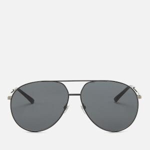 Gucci Men's Metal Frame Sunglasses - Shiny Black
