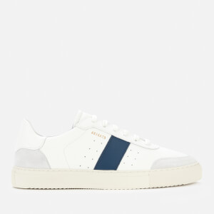 Axel Arigato Men's Dunk V2 Leather Trainers - White/Blue