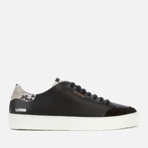 Axel Arigato Women's Clean 90 Triple Animal Leather Cupsole Trainers - Black/Snake/Grey