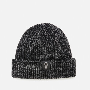 Karl Lagerfeld Women's K/Ikonik 3D Pin Metallic Beanie - Black