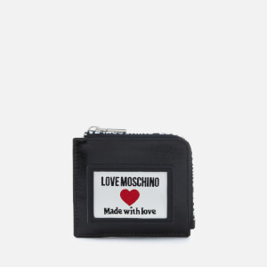 Love Moschino Women's Heart Logo Card Holder - Black