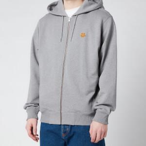 KENZO Men's Tiger Crest Full Zip Hooded Sweatshirt - Dove Grey