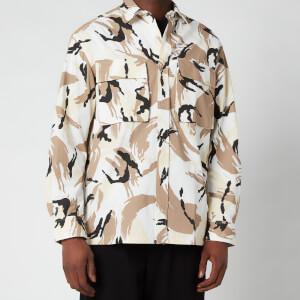 Kenzo Men's Tropic Camo Printed Overshirt - Off White