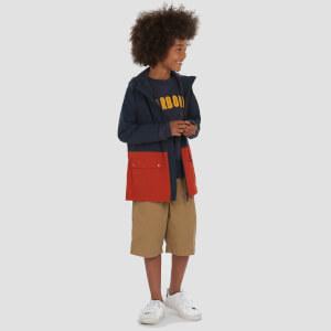 Barbour Boys' Ingleton Waterproof Jacket - Navy/Orange