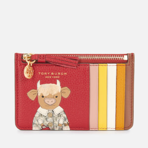 Tory Burch Women's Ozzie the Ox Top-Zip Card Holder - Redstone