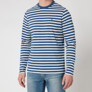 Barbour Stormforce Men's Matelot Long Sleeve T-Shirt - Blue