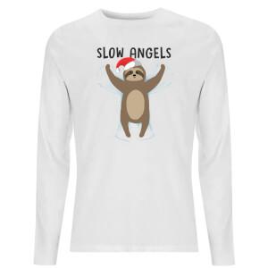 Slow Angels Unisex Long Sleeve T-Shirt - White