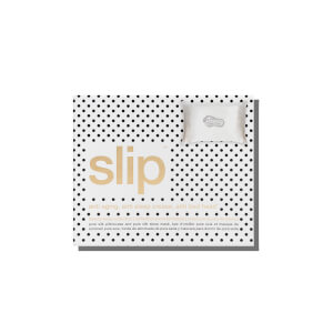 Slip White Queen Pillowcase and Polka Dot Sleep Mask Gift Set