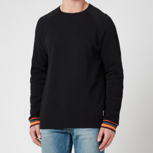PS Paul Smith Men's Stripe Cuff Long Sleeve Top - Black