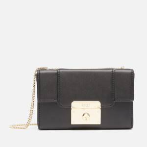 DKNY Women's Mini Box Bag - Black/Gold