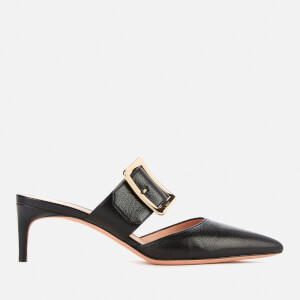 Bally Women's Jemina 55 Leather Heeled Mules - Black