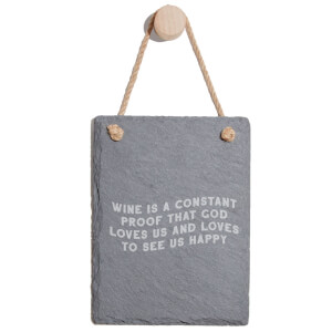 Wine Is A Constant Proof That God Loves Us Engraved Slate Memo Board - Portrait