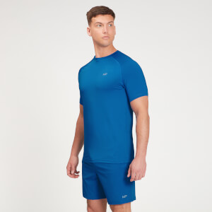 MP Men's Graphic Running Short Sleeve T-Shirt - True Blue