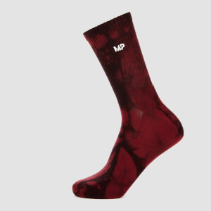 MP Men's Adapt Tie Dye Socks - Merlot/Black