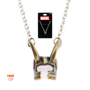 Marvel Loki Helmet Pendant Necklace