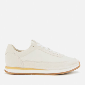 Clarks Women's Craftrun Lace Suede Running Style Trainers - White