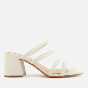 Clarks Women's Sheer65 Leather Heeled Mules - White