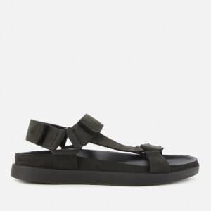 Clarks Men's Sunder Range Nubuck Sandals - Black