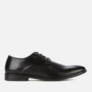 Clarks Men's Stanford Walk Leather Derby Shoes - Black