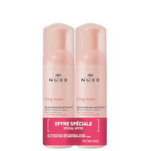 NUXE Very Rose Light Cleansing Foam Duo 2 x 150ml (Worth £31.00)