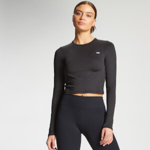 MP Women's Essentials Training Dry Tech Long Sleeve Crop Top - Black