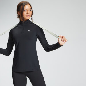 MP Women's Essentials Training Regular Fit 1/4 Zip - Black