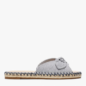 Kate Spade Women's Saltie Shore Canvas Espadrille Sandals - Parchment/Blazer Blue