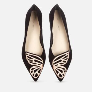 Sophia Webster Women's Butterfly Pointed Flats - Black/Rose Gold