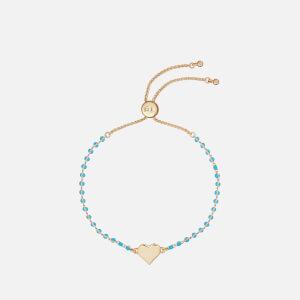 Ted Baker Women's Rainba: Rainbow Heart Bracelet - Gold/Turquoise