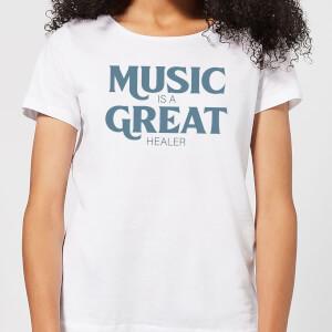 Music Is A Great Healer Women's T-Shirt - White
