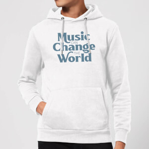 Music Can Change The World Hoodie - White