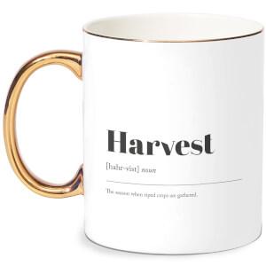 Harvest Bone China Gold Handle Mug