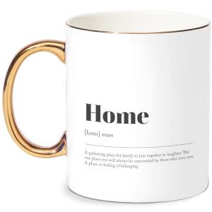 Home Definition  Bone China Gold Handle Mug
