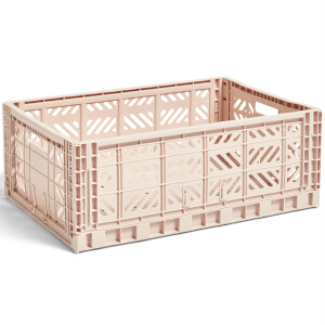 HAY Colour Crate Soft Pink - L