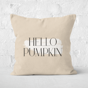Hello Pumpkin Square Cushion