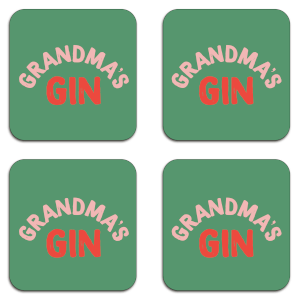 Grandma's Gin Coaster Set