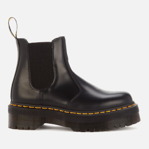 Dr. Martens 2976 Quad Polished Smooth Leather Chelsea Boots - Black