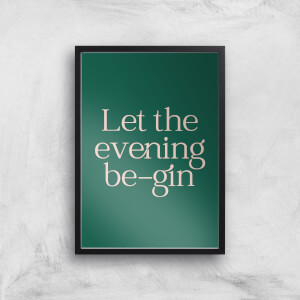 Let The Evening Be Gin Giclee Art Print